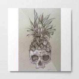 PineSkull Metal Print