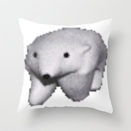 Polar Bear Meme Throw Pillow