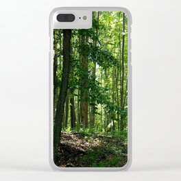 Pine tree woods Clear iPhone Case