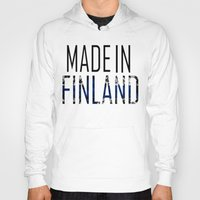 finland Hoodies featuring Made In Finland by VirgoSpice