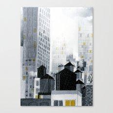 Rainy New York City Canvas Print