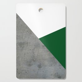Concrete Festive Green White Cutting Board