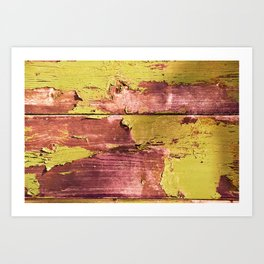 pea and rusty pink peel Art Print