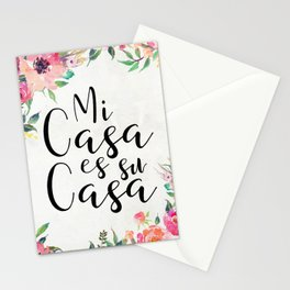 Mi casa es su casa Stationery Cards