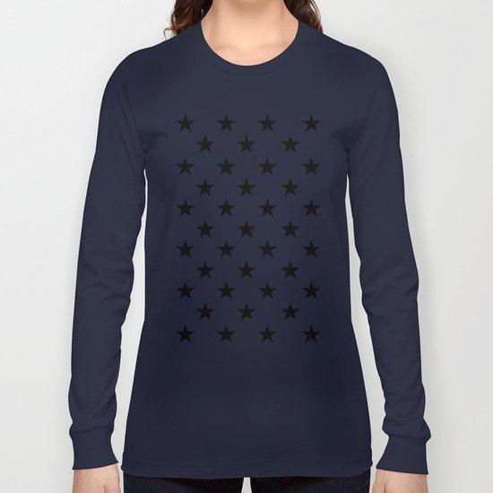Stars (Black/White) Long Sleeve T-shirt