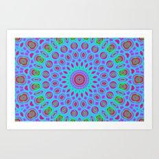 Psychedelic mandala Art Print