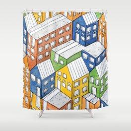 House on house Shower Curtain