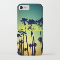 california iPhone & iPod Cases featuring CALIFORNIA by RichCaspian