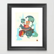Mayan priest2 Framed Art Print
