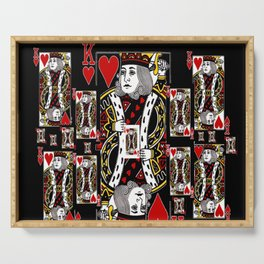 BLACK KING OF HEARTS CASINO PLAYING CARDS FROM Serving Tray