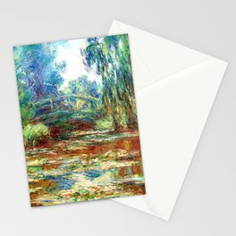 Monet Bridge over a Pond of Water Lilies,1899 Stationery Cards