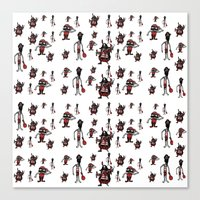 pirates Canvas Prints featuring Pirates by Joe Pugilist Design