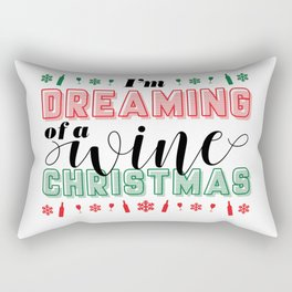 SHHH...THERE IS WINE IN HERE Rectangular Pillow