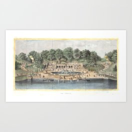 Bethesda Terrace Central Park Vintage Artwork Art Print