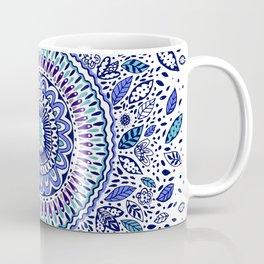 Indigo Flowered Mandala Coffee Mug