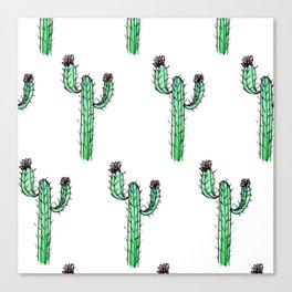 Cactus Flower II Pattern Canvas Print