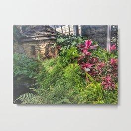 Koi Pond at Vander Veer Botanical Garden Metal Print