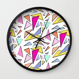 TRIANGLES & COLORS Wall Clock