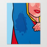the secret life of heroes Canvas Prints featuring The secret life of heroes - Super Sweat by Greg-guillemin
