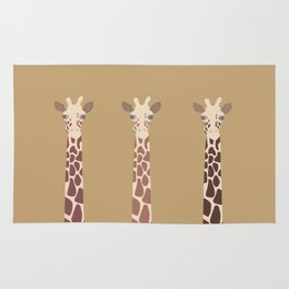 Triple Giraffes Rug
