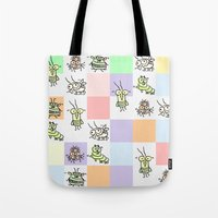 bugs Tote Bags featuring Bugs by Scribblebro