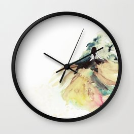 Rainbow dress Wall Clock