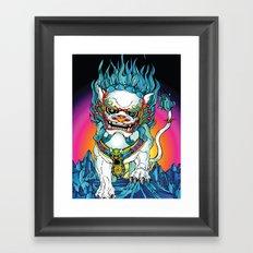 SNOWLION Framed Art Print