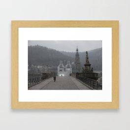 Heidelberg Cyclist Framed Art Print