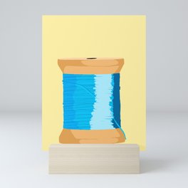 Blue Spool Of Thread Mini Art Print