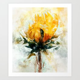 Born in Sunflower Art Print