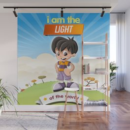 I am the Light of the world. Wall Mural