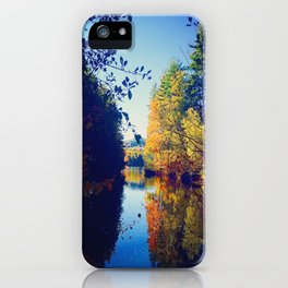Sokokis Lake During the Fall iPhone Case