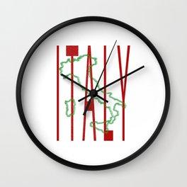 Italy Map Wall Clock
