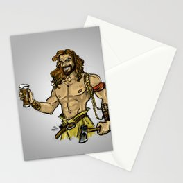 Jason Momoa comic style Stationery Cards