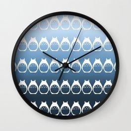 Friendly Neighbor (reverse ombre) Wall Clock