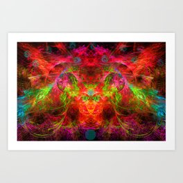 The Flying Shaman Art Print