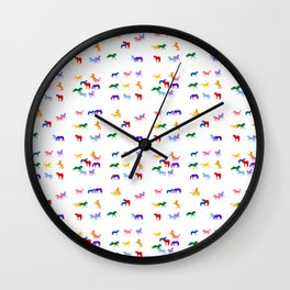 All the Colored Horses!  Horse Pattern Wall Clock
