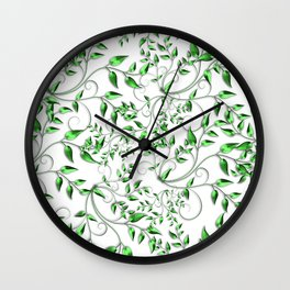 PALM LEAFY GREEN LEAVES Wall Clock