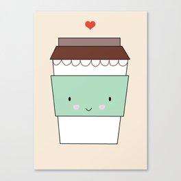 Bring coffee Canvas Print