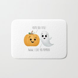 Boo-tiful Couple | Pumpkin & Ghost Bath Mat
