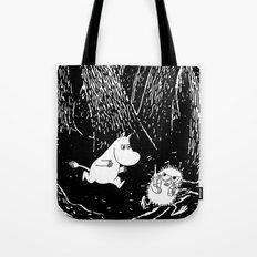 Moomins run for Stinky Tote Bag