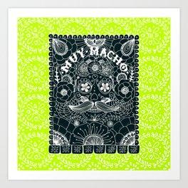 Muy Macho Neon Art Print