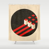 soviet Shower Curtains featuring Komposition #5 by Richard Winters