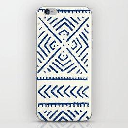 Line Mud Cloth // Ivory & Navy iPhone Skin