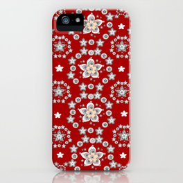 Mandal flowers 2 iPhone Case
