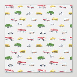 Cars and Trucks Collection Canvas Print