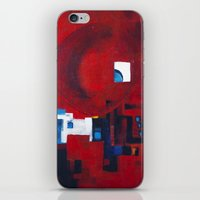 ballon iPhone & iPod Skins featuring Red ballon by Nathalie Gribinski