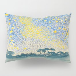 Henri-Edmond Cross Neo-Impressionism Pointillism Landscape with Stars Watercolor Painting Pillow Sham