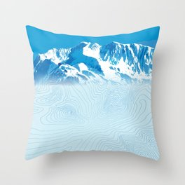 Mt. Alyeska Alaska Throw Pillow