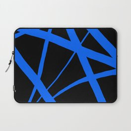 China Blue Star Abstract on Black Laptop Sleeve